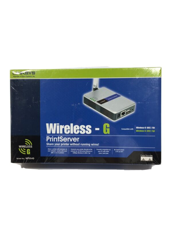 Linksys WPS54G Wireless-G PrintServer Factory Sealed *Free & Fast Shipping!