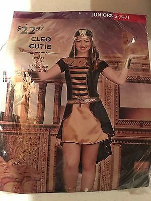 Halloween Costume Girl's Cleo Cutie Juniors Small 5-7,  Medium 9-11 or Large](9/11 Halloween Costumes)