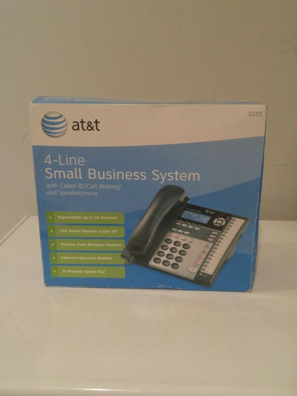 AT&T 1070 4-Line Expandable Corded Phone System NEW factory sealed.