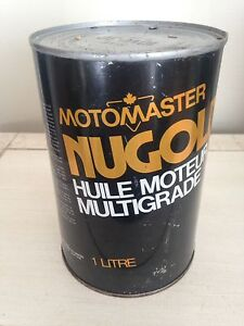 Vintage Motomaster Canadian tire quart motor oil tin can gas