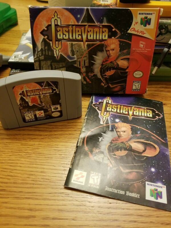 Castlevania (Nintendo 64, 1999) with Box and Manual Tested N64 some box damage