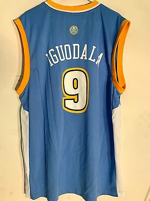 Adidas NBA Jersey DENVER Nuggets Andre Iguodala Light Blue sz -