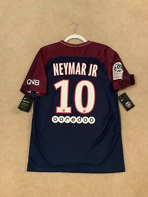 0b9adc08ff92e BNWT Nike 2017-2016 Paris St Germain Jersey  10 Neymar Jersey Sz (M)