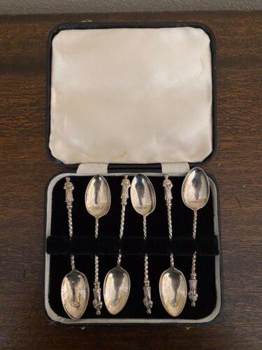 Antique Apostle Spoons Set of 6 Birmingham George Unite 1891