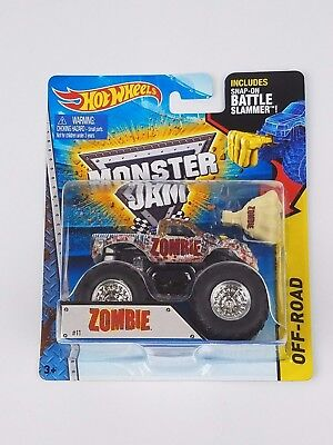 Hot Wheels Monster Jam Zombie 1 64Th Monster Truck Battle Slammer Attachment