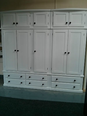 HANDMADE CELEBRITY GENTS 5 DOOR 6 DRAWER WARDROBE +TOPBOX NO FLAT PACKS!!!