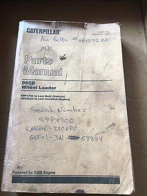 Cat Caterpillar 980b Wheel Loader Parts Manual Gg5