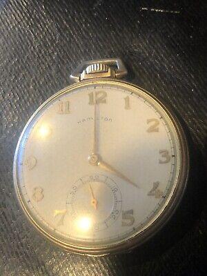 14k GF Hamilton Pocket Watch Teaching In Riverhead School District Long Island