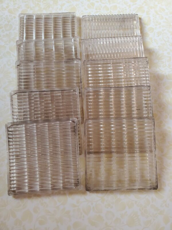 10 Antique Luxfer Prism Glass Tiles Architectural