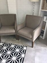Two grey armchairs for sale $100 for both Ashmore Gold Coast City Preview