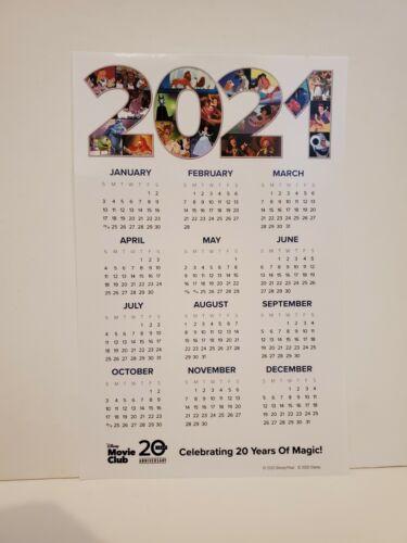 DISNEY MOVIE CLUB DMC EXCLUSIVE CHARACTER DESIGN CALENDAR SHEET PAGE 2021