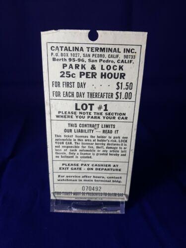 1971 Parking Voucher Catalina Terminal San Pedro - $15.00