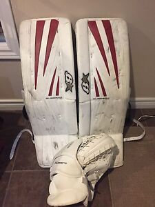 Brians Sub Zero 6.0 series senior goalie pads and trapper