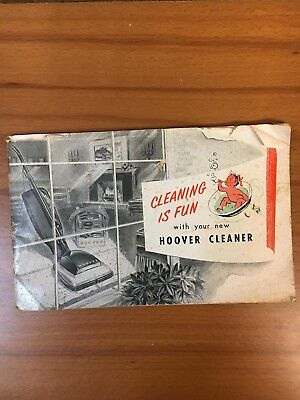 Hoover Cleaning Equipment Booklet