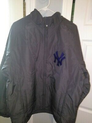 MLB New York Yankees Therma Base Double Climate Baseball Jacket New Mens