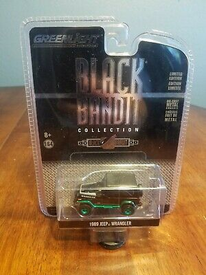 Greenlight Green Machine 1989 Jeep Wrangler Black Bandit Collection