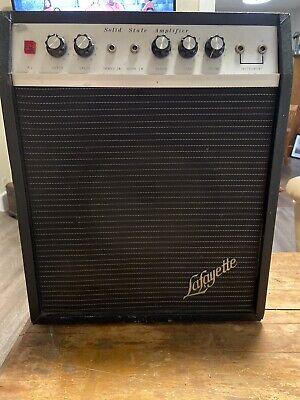 Vintage Guitar Amp Lafayette 1971 With Fender Speaker Solid State