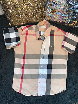 Burberry Brit Long Sleeve Button Down Shirt Mens Large