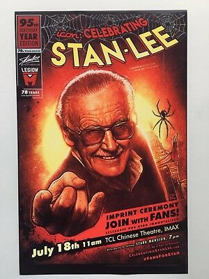 Stan Lee 95th Birthday Edition 11x17  Poster (July 18th)