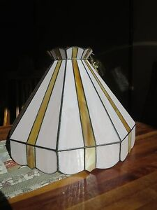 Stained glass light shade, handmade. Richmond Hawkesbury Area Preview
