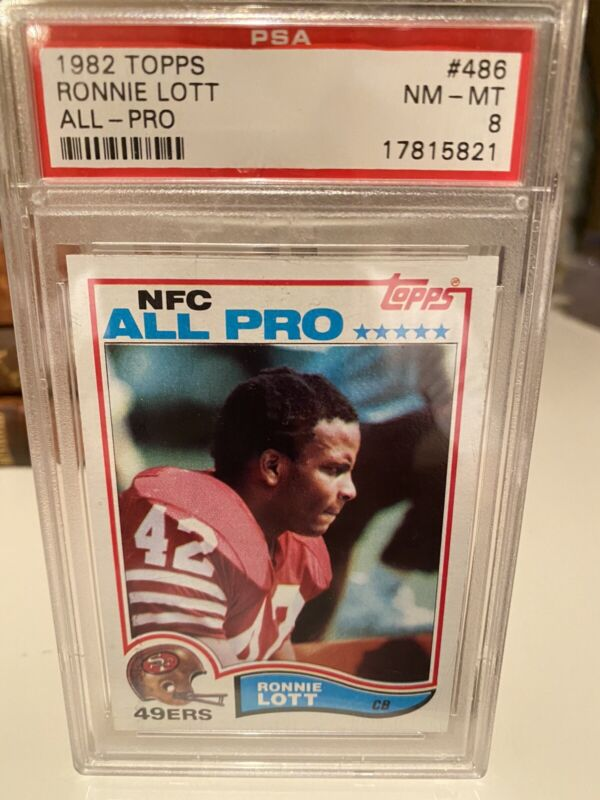 vintage topps 1986 Ronnie Lott graded card 6