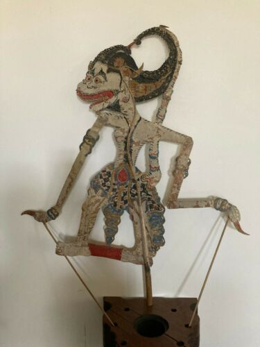 Antique/Vintage INDONESIAN Shadow PUPPET 4  Wayang Kulit Large