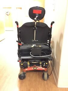 Motorized wheelchair for larger person