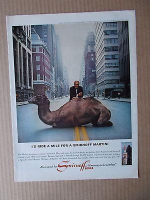 SMIRNOFF VODKA 1966 VINTAGE MAGAZINE AD  INV#311