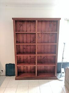 Beautifully Crafted Red Gum Custom Furniture Bookcase Sylvania Sutherland Area Preview