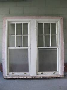 GREAT MEDIUM SOLID TIMBER TWIN DOUBLE HUNG SASH WINDOW Toorak Stonnington Area Preview