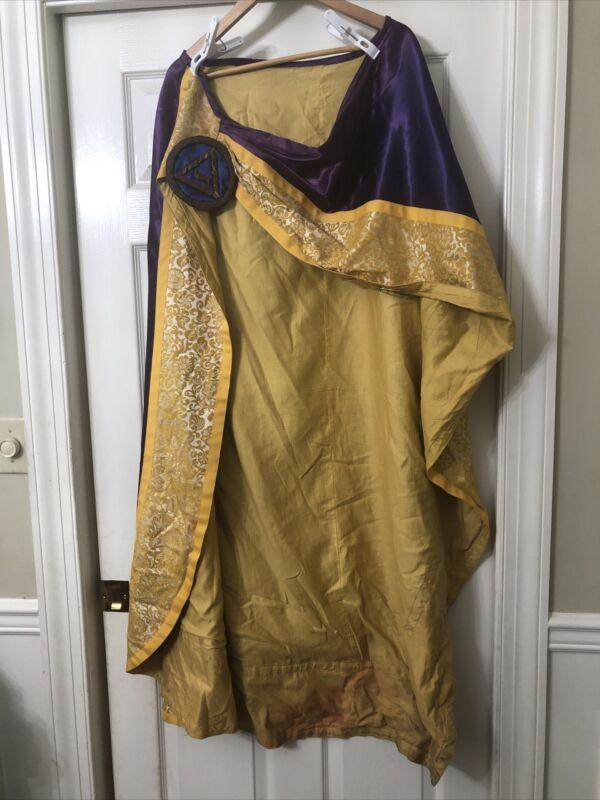 Antique Masonic Ceremonial Robe Cape Costume Knight Lodge of Perfection Bullion