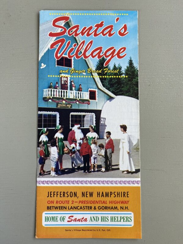 Vintage Brochure Santa
