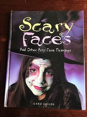 SCARY FACES AND OTHER ARTY FACE PAINTINGS CARO CHILDS HCB/DJ HALLOWEEN
