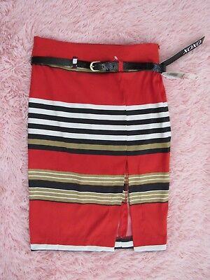 NWT XOXO Women's / Juniors Size 0/0 Sportswear Side Slit Pencil Skirt w Belt