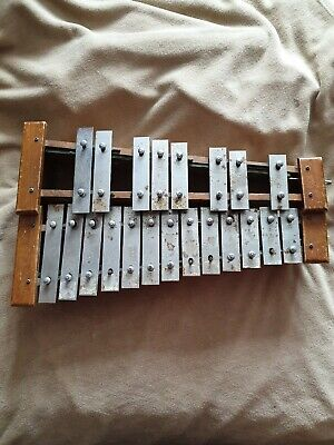Glockenspiel musical instrument very old Vintage in need of TLC