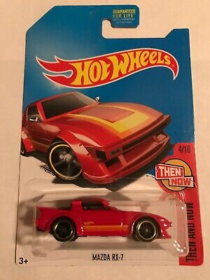 Hot Wheels 2017 Kmart Exclusive Mazda RX7 Red Then And Now 4/10
