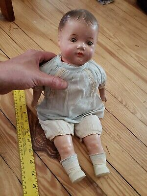 Antique vintage porcelain baby doll creepy victorian toys scary movie prop?