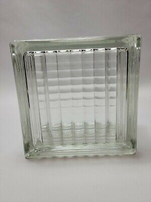 Reclaimed Vintage Architectural Glass Building Block -- Very Nice Pattern