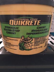 Hydraulic water stop cement
