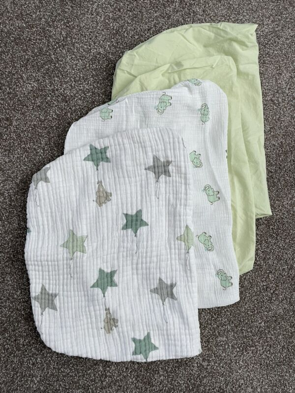 Aden + Anais Green Elephant Changing Pad Cover 4pc Lot
