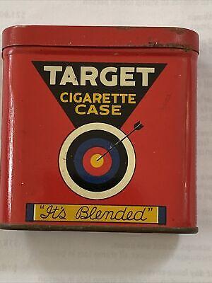 vintage pocket tobacco tins BROWN & WILLIAMSON's TARGET CIGARETTE Case Bullseye