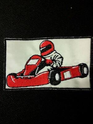 Aufnäher Go Kart Auto Patches Aufbügler Kinder Patch
