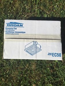 Brand new Broan EC50 economy fan