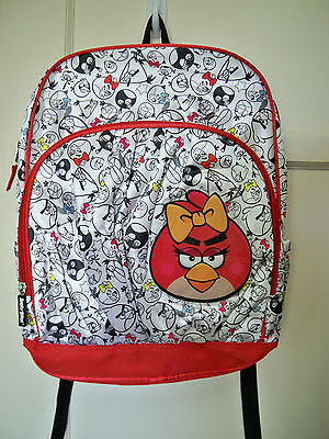 DELUXE Faux Silk Angry Birds Female Girl Red Bird 16 in. Full Size Backpack  NEW