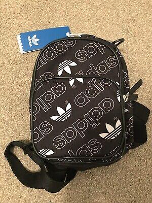 Adidas Originals Mini Classic Backpack Black White Trefoil Logo DV0192 Bag New