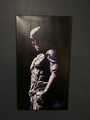 Batman Painting Acrylic On Canvas 18 X 32 Inches Cargill Batman Begins Dark Knig - $150.00