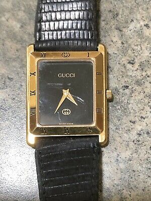 Gucci Ladies Watch.brown Leather Band In Box Auth Gucci vintage Early Ninties