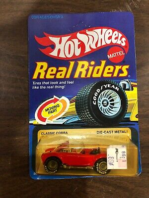 1982 Hot Wheels Red Classic Cobra Real Riders Series w/ Goodyear Tires Shelby