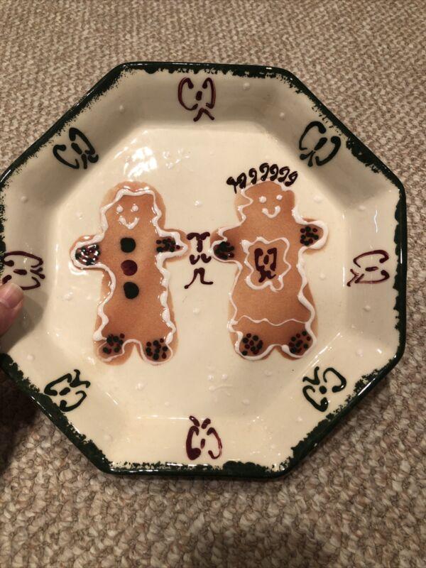 Frankoma Designs 99 Gingerbread Couple Dish
