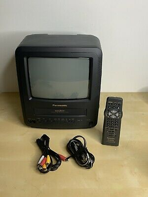 """Panasonic CRT TV/VCR 9"""" Combination Television With Remote And AV Gaming Pv-c920"""